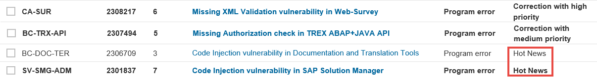 SAP Security Notes - ERP-SEC June - July 2016