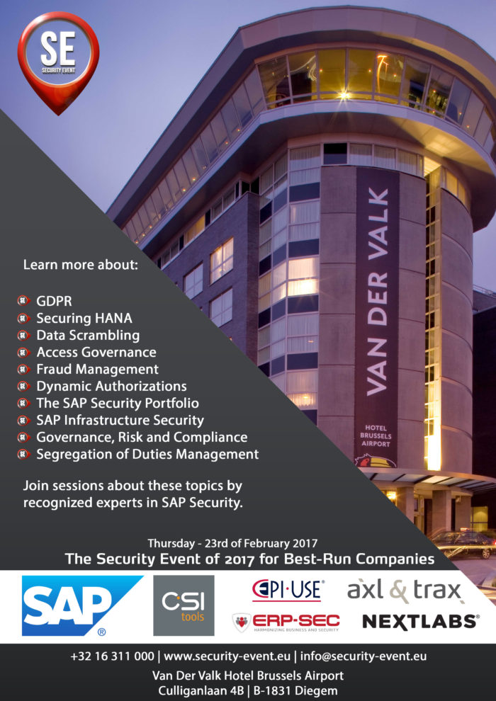 image - Erp-sec present at Security event 2017