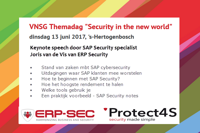 VNSG Themadag 2017 security