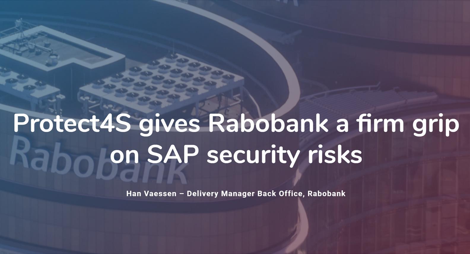 Case rabobank protect4s SAP security en