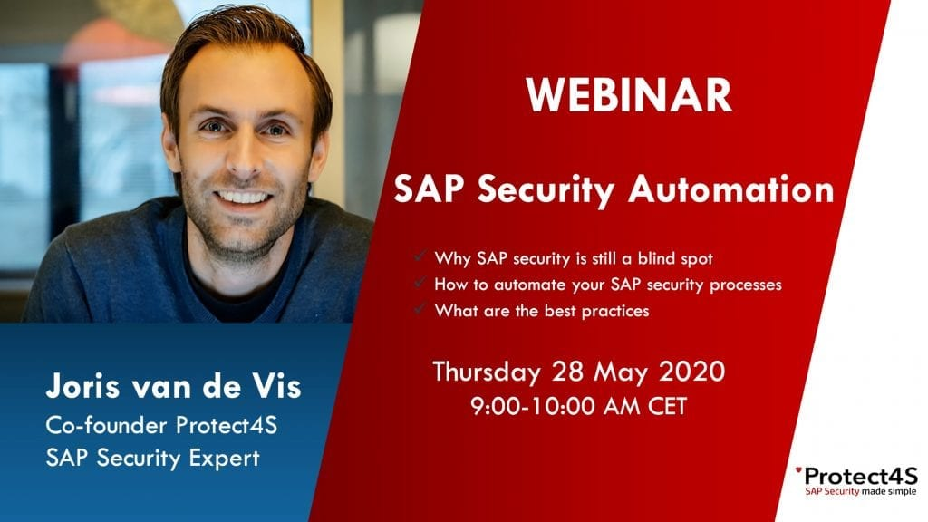 image - WEBINAR SAP Security Automation - 28 May at 9 AM CET