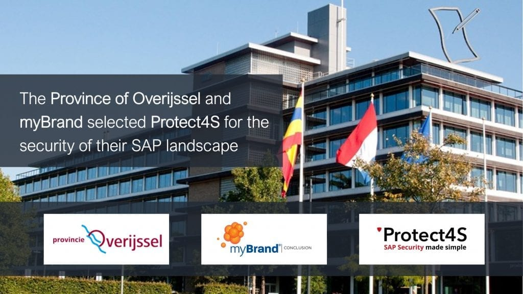 image - The Province of Overijssel and myBrand selected Protect4S for the security of their SAP landscape