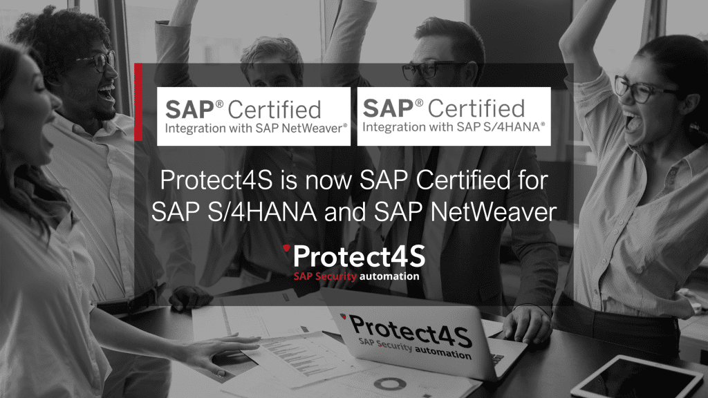image - Protect4S is now SAP Certified for SAP S/4HANA and SAP NetWeaver