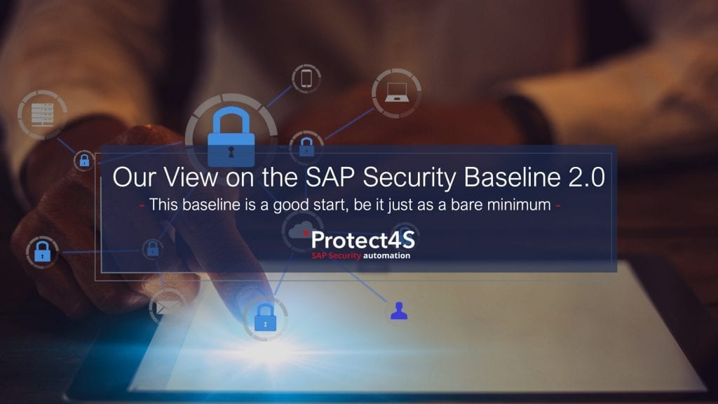 image - Our View on the SAP Security Baseline 2.0