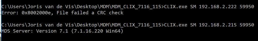 """SAP MDM """"failed CRC check"""" error"""