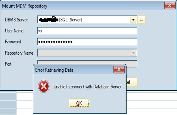 1_SAP Master Data Management_wrong password
