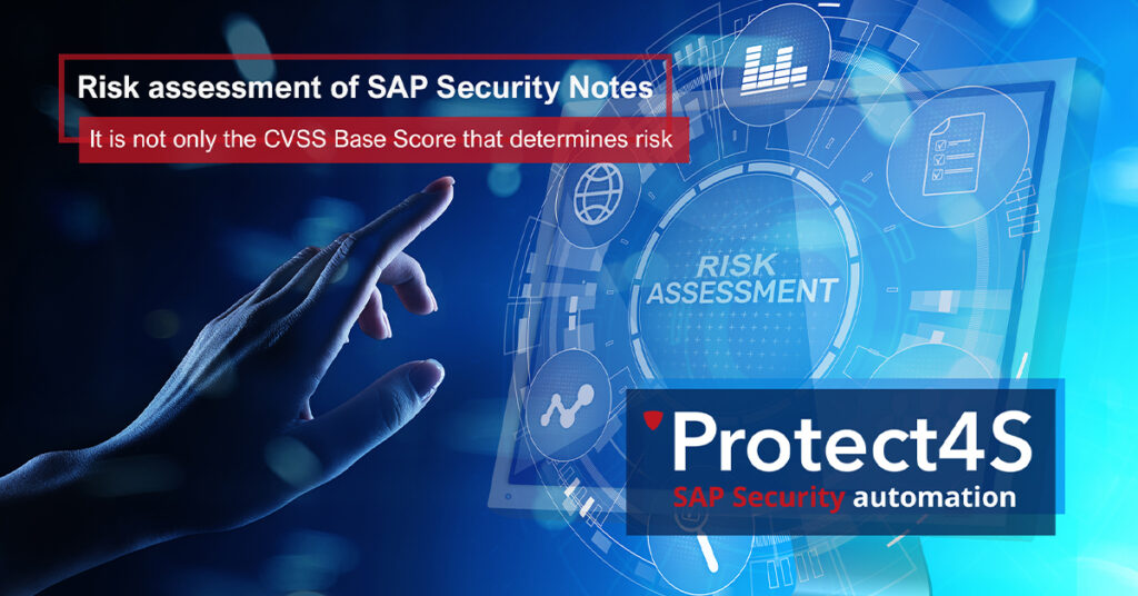 Risk assessment of SAP Security Notes