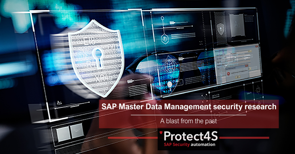 SAP master data management security research