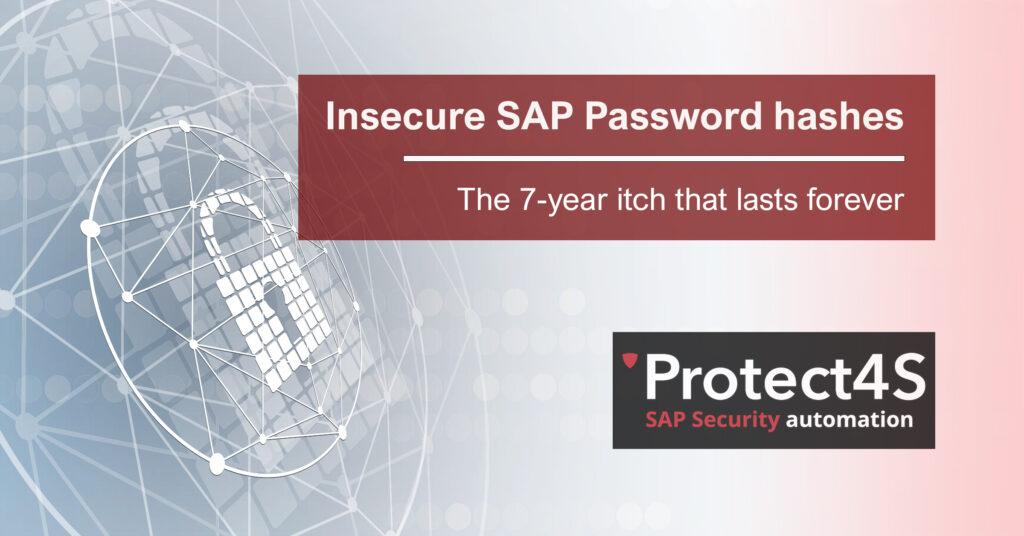 SAP Password Hashes
