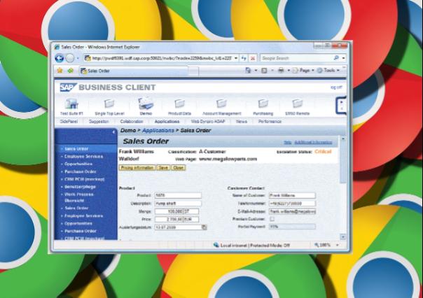 SAP Business Client_Chrome